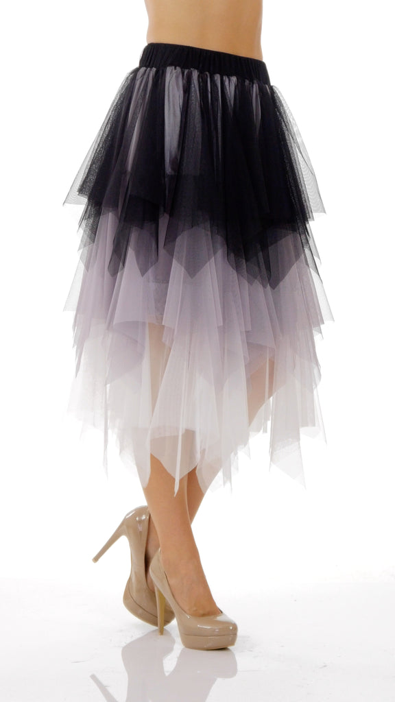 Layered Colors Tulle Skirt - Shop Lev