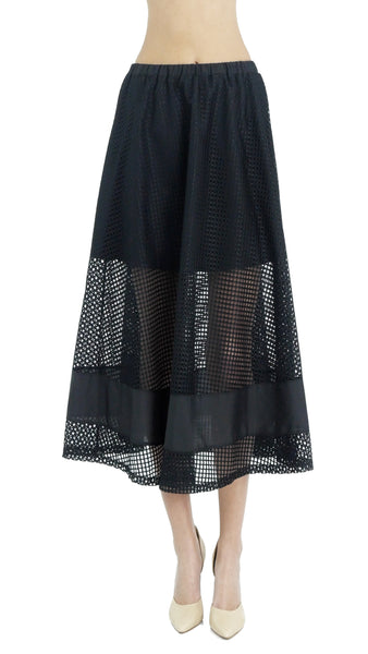 Women's Lattice Long A-Line Skirt - Shop Lev