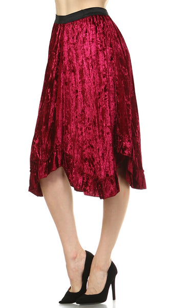 Women's Velvet Swing Skirt - Shop Lev