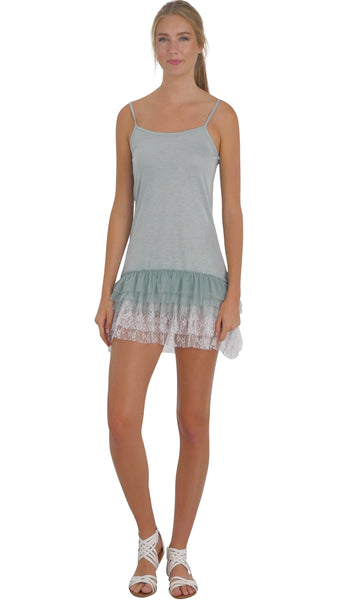 Women Lace Layered Knit Short High-Low Full Slip - Shop Lev