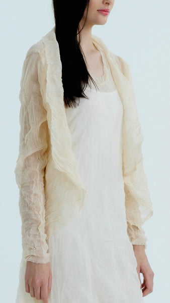 Layered Sheer Mesh Open Jacket - Shop Lev