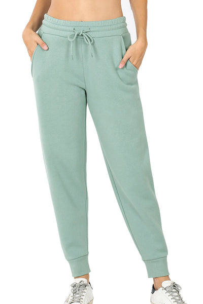 Women's Cotton Blend Relax Fit Cropped Jogger Lounge Sweatpants Running Pants