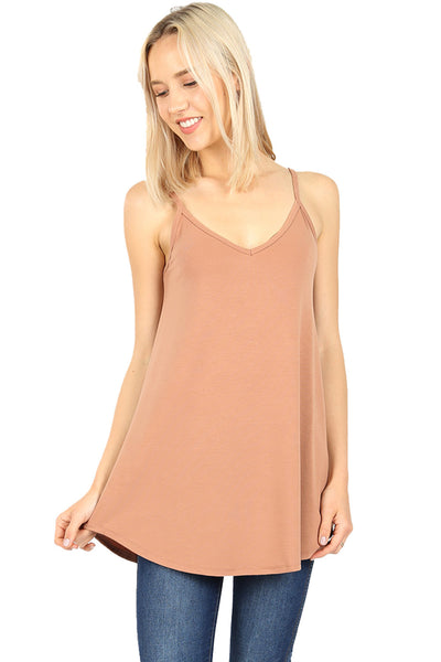 Women Reversible flare camisole tank top