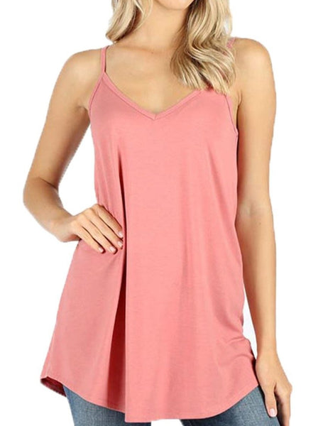 Women Reversible flare camisole tank top - Shop Lev