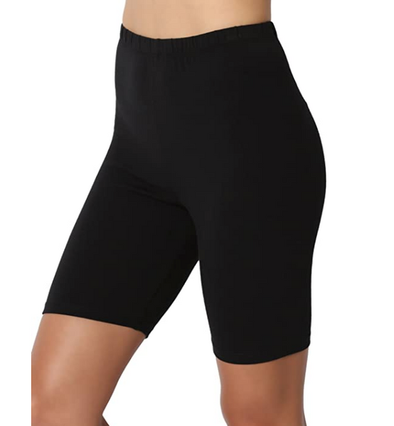 Women Black Cotton High Waist Active Bike Short Leggings - Shop Lev