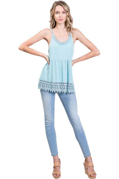 Women's Modal Lace Swing Camisole with adjustable straps - Shop Lev