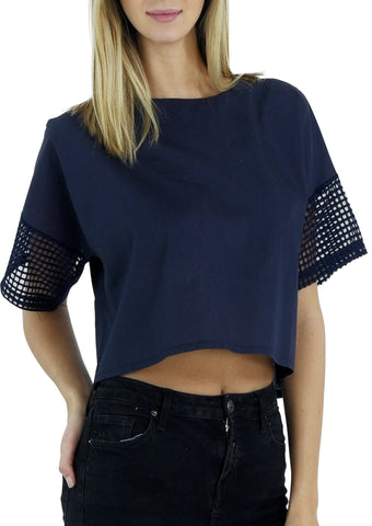 Short Sleeve Crop Top - Shop Lev