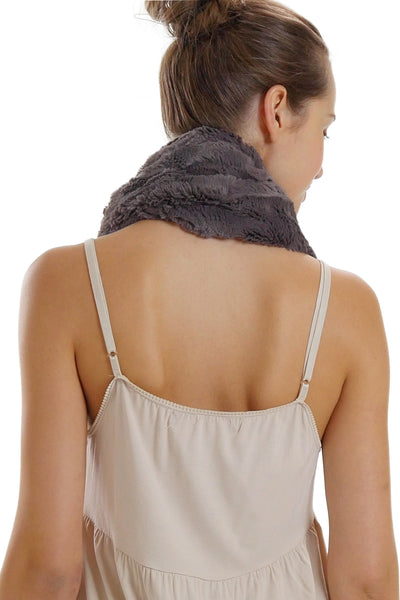 Unisex Faux Fur Solid Infinity Scarf, neck warmer, snood - Shop Lev
