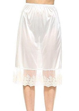 "Long single lace satin underskirt skirt extender half slip for lengthening - 26"" length - Shop Lev"