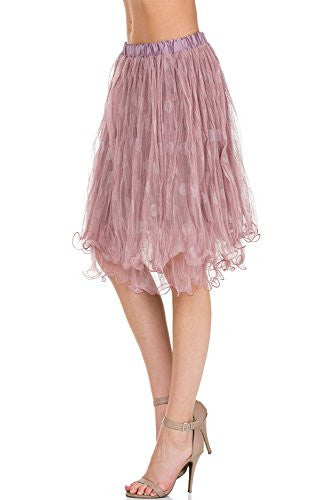 Women's polka dot mini tutu skirt - Shop Lev