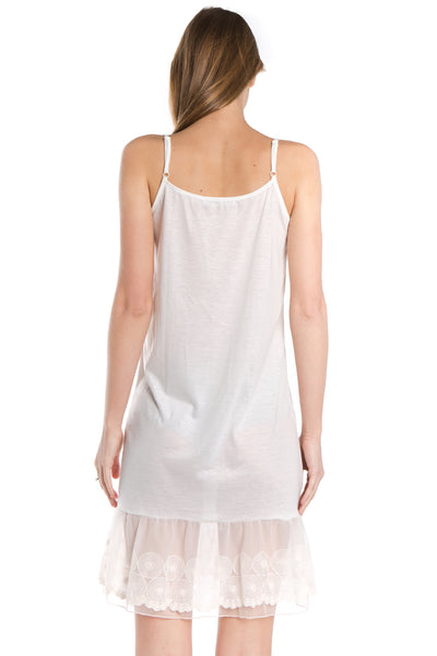Women's Circle Lace Knit Full Slip with Adjustable Straps - Shop Lev