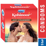 Durex Kohinoor Juicy Strawberry 3's Condoms