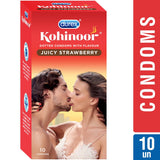 Durex Kohinoor Juicy Strawberry 10's Condoms