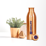 Medlife Copper Water Bottle 1L - (Pack of 1)
