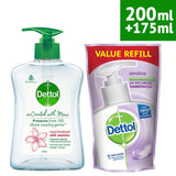 Dettol Jasmine Handwash Refill And Pump, 200Ml+175Ml (Co-Created with Moms)