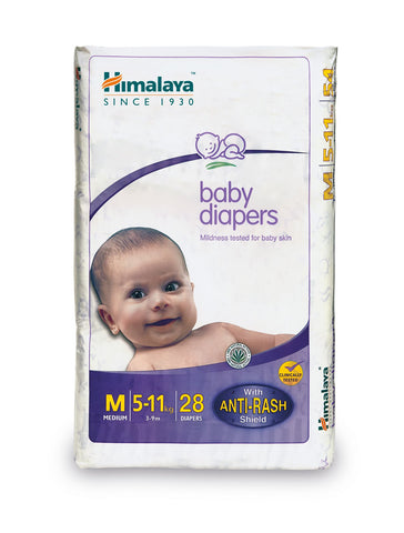 Himalaya Baby Diapers Medium (28 Count) - (5-11 Kg)