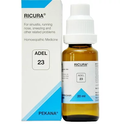 ADEL 23 Ricura Drop 20Ml For Sinusitis, Sneezing, Cold &  Breathing Problems