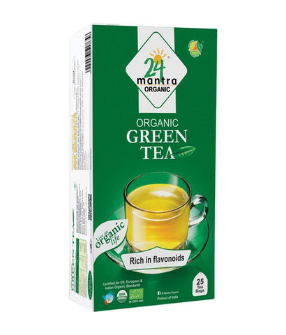 24 Mantra Green Tea (25 Tea Bags) - Boost Immunity, Stress Relief & Improves Digestion