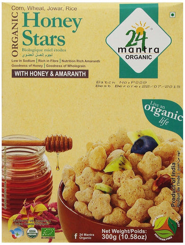 24 Mantra Honey Stars 300Gm