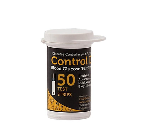 Control D 50's Blood Glucose Test Strips