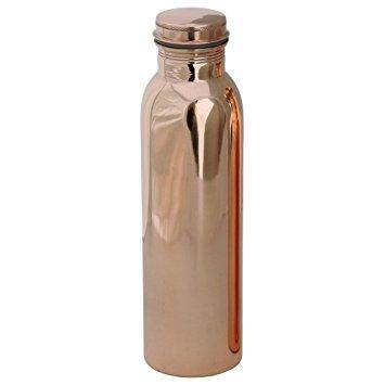 Ayurveda Lacquer Coat Copper Bottle (Pack Of 1)