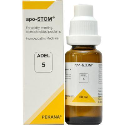ADEL 5 Apo-Stom Drops 20Ml For Digestion, Constipation & Acidity