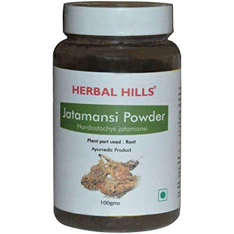 Herbal Hills Jatamansi Powder For Hair Growth, Cardiac Health, Stress Buster, Liver Problems, Brain Nervine Tonic & A Memory Enhancer