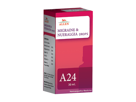 Allen A24 Homeopathy Drops For Migraine, Nervous Headaches & Continuous Headaches