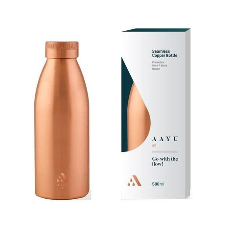 Aayu Go Seamless Copper Bottle 500 Ml