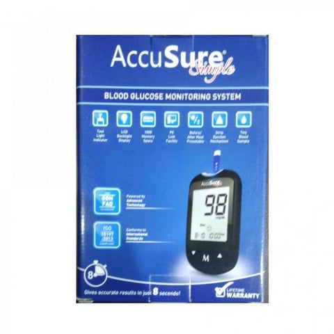 Accusure Simple Blood Glucose Monitor