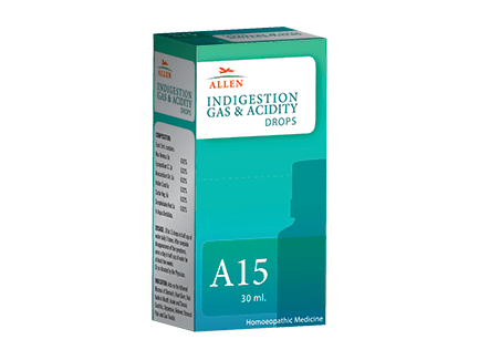 Allens A15 Homeopathy Drops For Indigestion, Gas & Acidity Drops