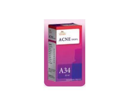 Allens A34 Acne Drops  For Pimples, Acne Vulgaris, Black Head & Dermatitis