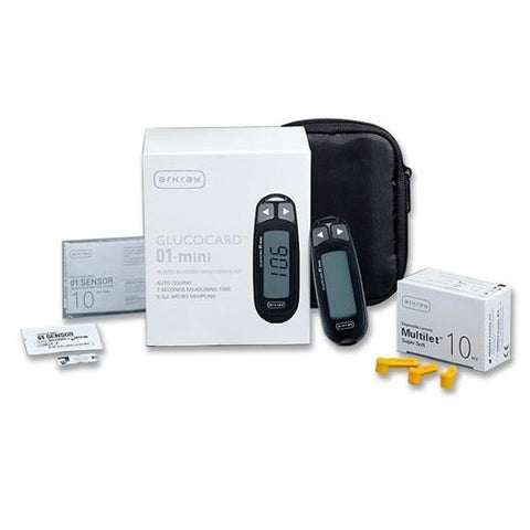 Arkray Gc 01 Mini Kit Combo Glucose Meter 1