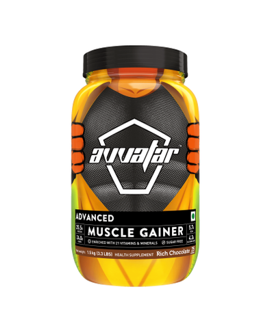 Avvatar Advanced Muscle Gainer Rich Chocolate Powder 1.5KG