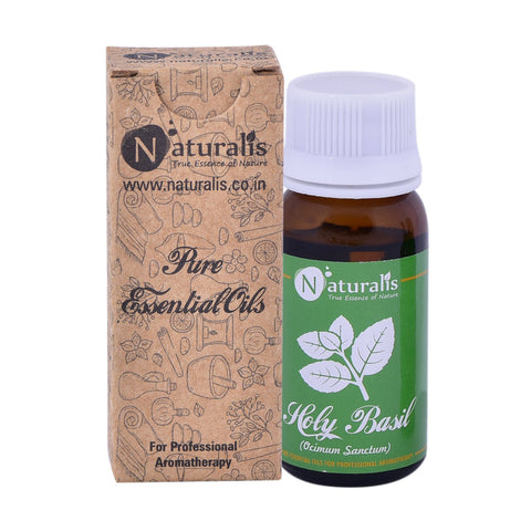 Naturalis  Holy Basil Essential Oil (Tulsi) 30 ML - Promotes Hair Growth, Digestion, Cures Skin Diseases