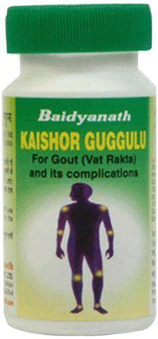 Baidyanath Kaishore Guggulu 80 Tablet For Leucorrhoea, Gout, Urinary Calculi, Albuminuria & Enuresis (Bed Wetting)