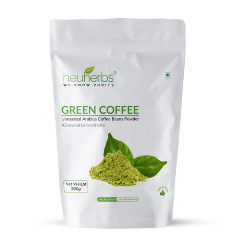 Neuherbs Green Coffee Beans Powder For Weight Loss 200 Gm