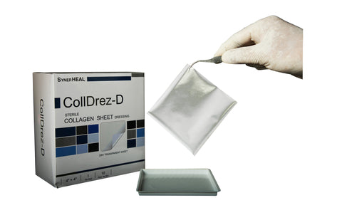 Colldrez D Dry Collagen Sheet Dressing Pad (10x10CM)