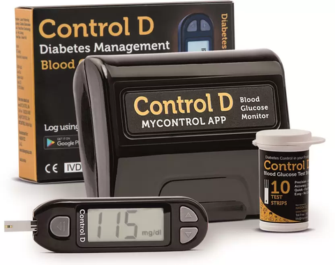 Control D Glucose Meter Kit With 10 Strip