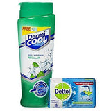 Dermicool Prickly Heat Regular Powder 150Gm With Dettol Cool Soap 75Gm
