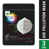Dettol Siti Shield Carbon Activated Air Pollution Mask - 3 Pieces