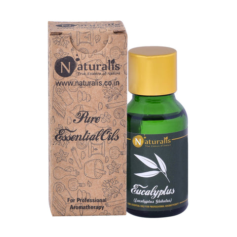 Naturalis Eucalyptus Essential Oil (15 ML) - Treats Respiratory Problems, Fever, Removes Mental Exhaustion & Muscle Pain