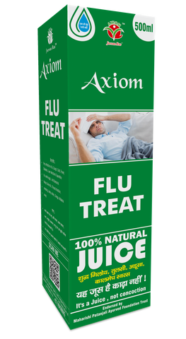 Axiom Flu Treat 500 ML For Flu, Cough, Cold, Fever, Diabetes, Liver Infection & Jaundice