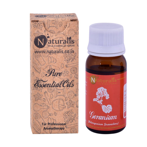 Naturalis Geranium Essential Oil (30 ML) - Treat Acne, Reduce Inflammation, Alleviate Anxiety & Balance Hormones
