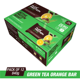 Ritebite Max Protein Active Green Tea Orange Bars (70 Gm X 12)
