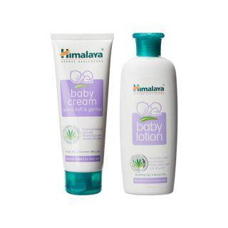 Himalaya Baby Lotion (200Ml)+Baby Cream (100Ml) Combo Pack