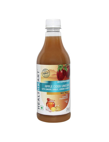Healthkart Apple Cider Vinegar With Mother Ginger Garcinia Green Coffee Juice 500ML
