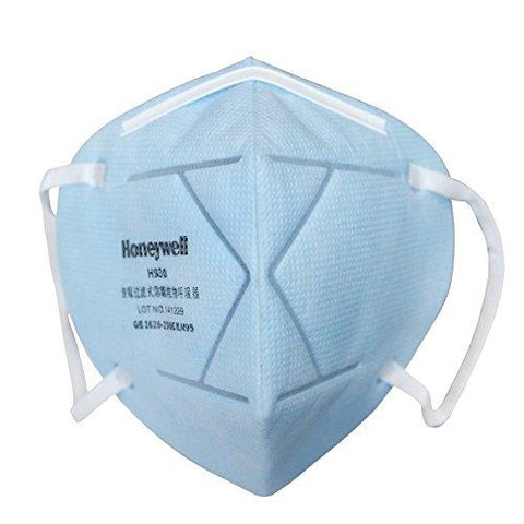 Honeywell E-D7002-BU10-IND PM 2.5 Anti-Pollution Foldable Face Mask - Icy Blue(Pack of 10)