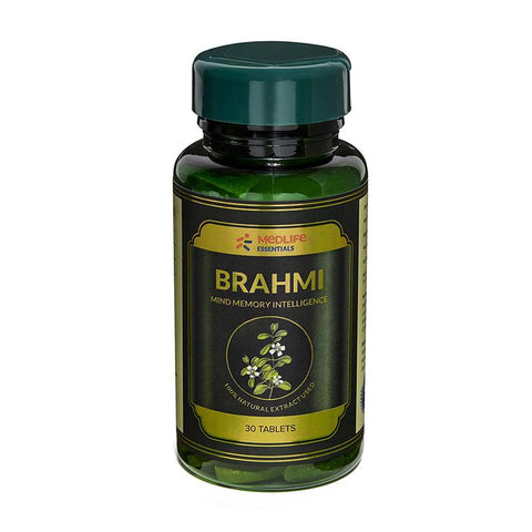 Medlife Essentials Brahmi 180 Tablet - 6's Pack - Manages stress & Improves Energy