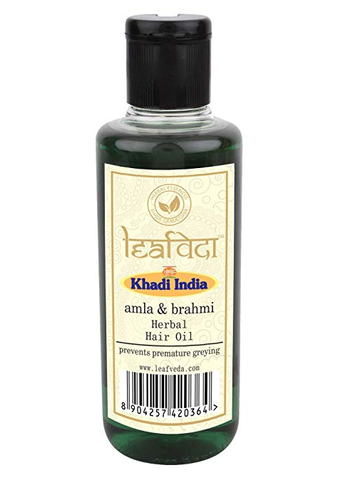Khadi Leafveda Amla And Brahmi Hair Oil 210 ML
